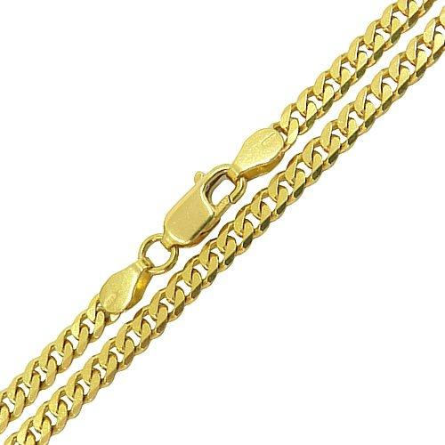 Corrente Masculina Maciça de Ouro 18K Elo Groumett 70 cm