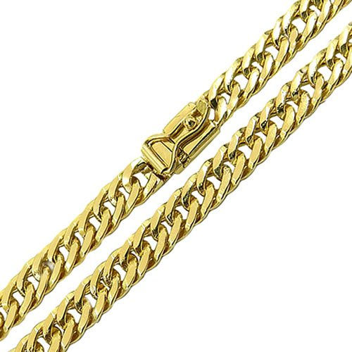 Cordão Masculino Groumet Duplo em Ouro 18K