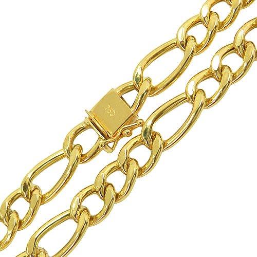 Cordão Elo Fígaro em Ouro 18K Masculino 21.5g