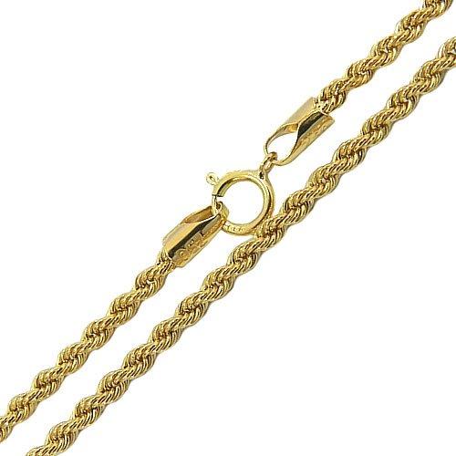 Corrente Malha Corda em Ouro 18K 70cm