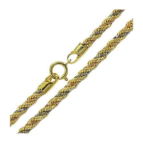 Corrente Feminina De Ouro 18k Modelo Trancilin 45cm