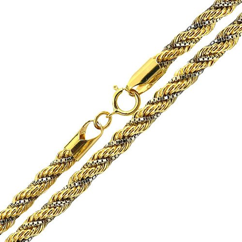 Cordão Masculino de Ouro 18K Trancilin 60cm