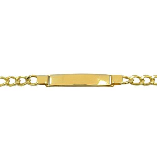 Pulseira Elo Grumet com Placa Ouro 18K 750