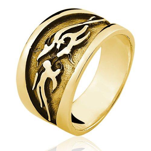 Anel de Ouro 18/750 Masculino AN31