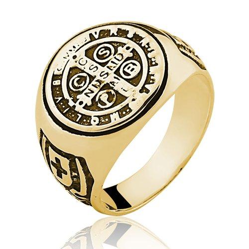 Anel de Ouro 18/750 Masculino Sao Bento AN19
