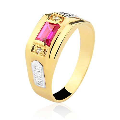 Anel de Formatura em Ouro 18k/750 com Zirconia ANFO92