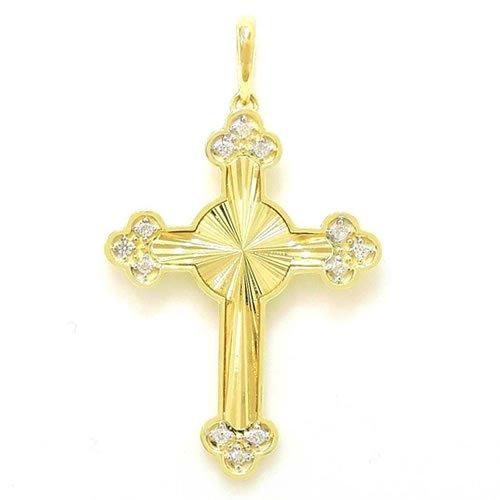 Crucifixo de Ouro 18k cravejado com Brilhantes