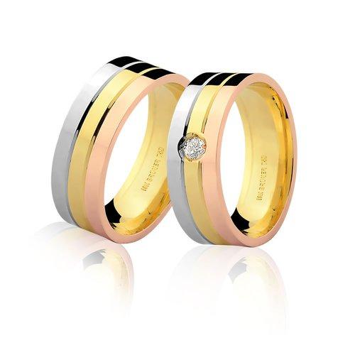 Aliança de Casamento Top em Ouro 18K