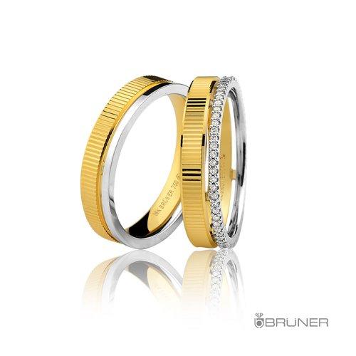Aliança de Casamento ou Noivado em Ouro 18k Com Brilhantes