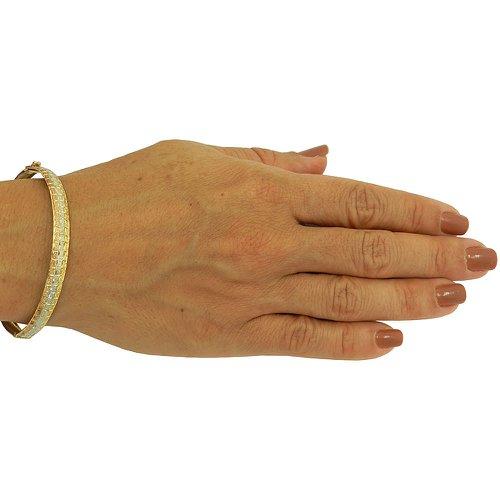 Bracelete em Puro Ouro 18K 0,750 em três cores