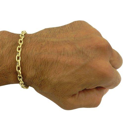 Pulseira Masculina Cartier em ouro com fio Retangular