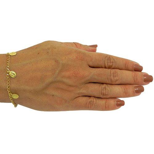 Pulseira de Ouro com elos Cartier e Pingentes de Todos os Santos