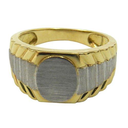 Anéis em Ouro 18k 0,750 Branco e Amarelo