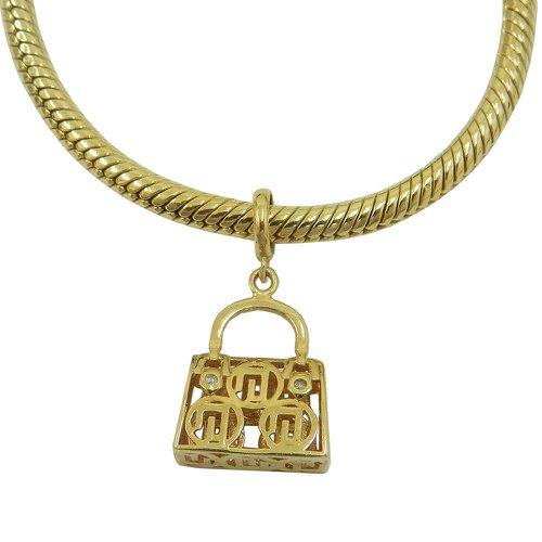 Pingente em Ouro 18k Bolsa com Brilhantes Pandora