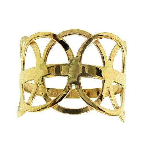 Anel Círculos Vazados em Ouro 18k