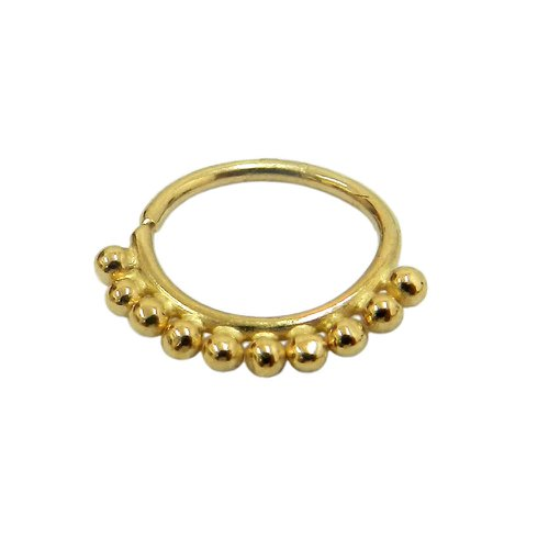 Piercing Argola em ouro 18k Bolinhas de Orelha, Septo e Mamilo