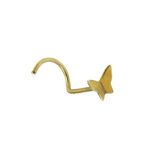 Piercing de Nariz em Ouro 18k Borboleta