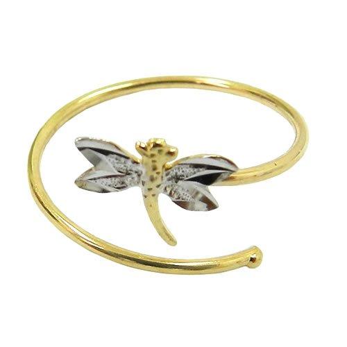 Anel de Falange em Ouro 18k libélula