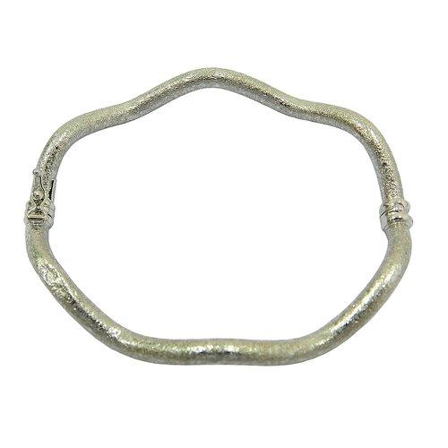 Bracelete em ouro branco 18k Ondulado