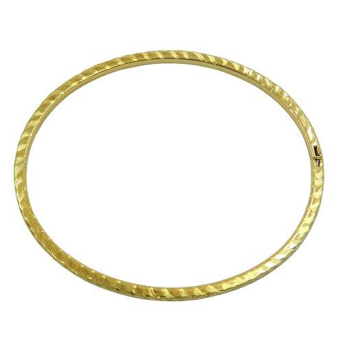 Pulseira em ouro 18k bracelete frisado