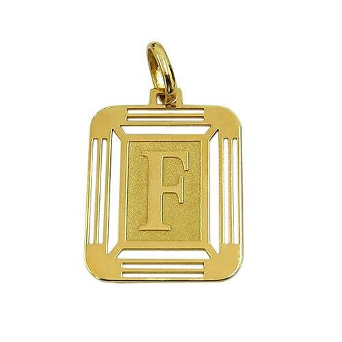 Pingente de Ouro 18K Letra F