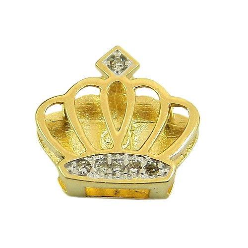 Pingente de Princesa Ouro 18K com 6 Brilhantes