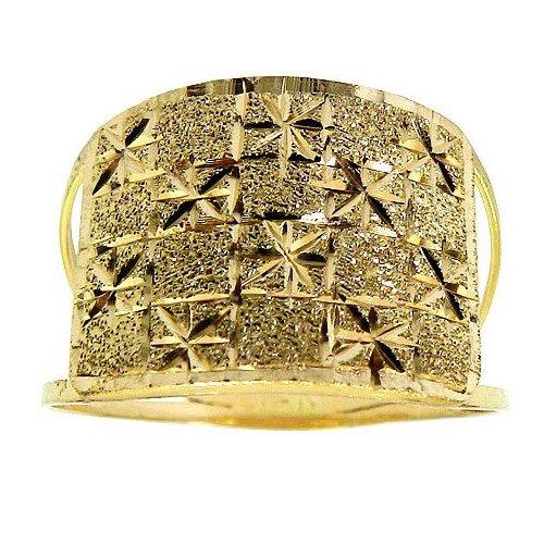 Anel Diamantado e Fosco em Ouro 18K