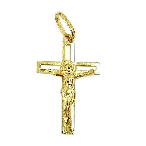 Cruz com Cristo em Ouro 18K Vazado
