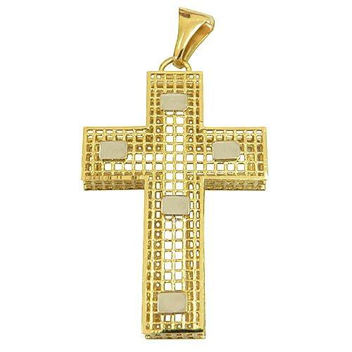 Crucifixo Vazado de Ouro 18K Grande