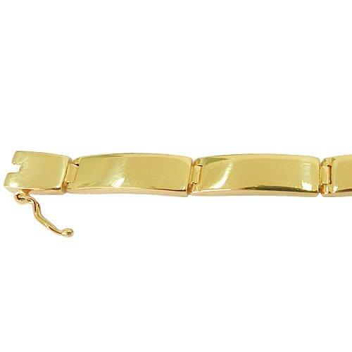 Pulseira Bracelete Masculino de Ouro 18K 750