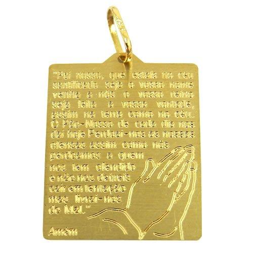 Medalha em Ouro 18K Oração do Pai Nosso