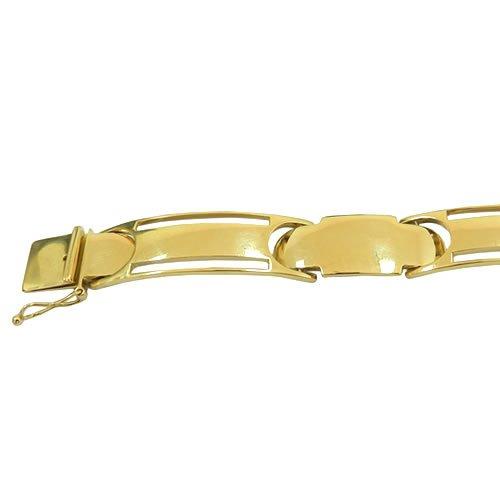 Pulseira Bracelete Masculino Ouro 18K