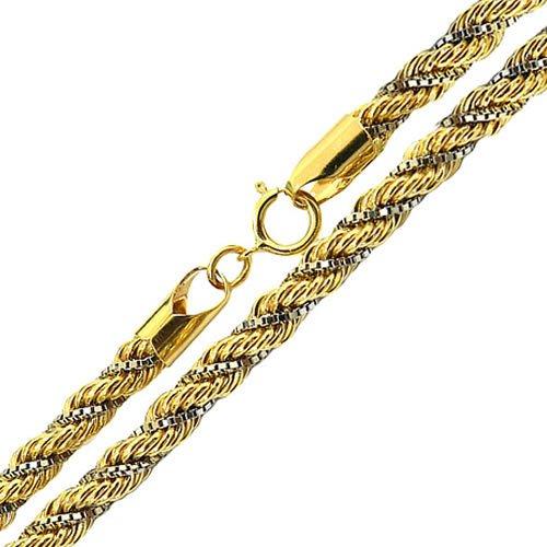 Cordão Trancilin Masculino de Ouro 18K 60cm