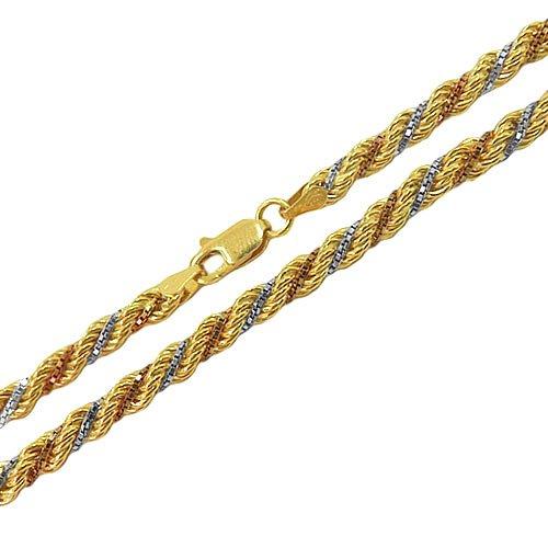 Corrente Trancilin Feminina em Ouro 45cm 8.5g