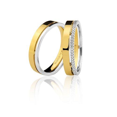 Alianças de Casamento ou Noivado em Ouro 18k