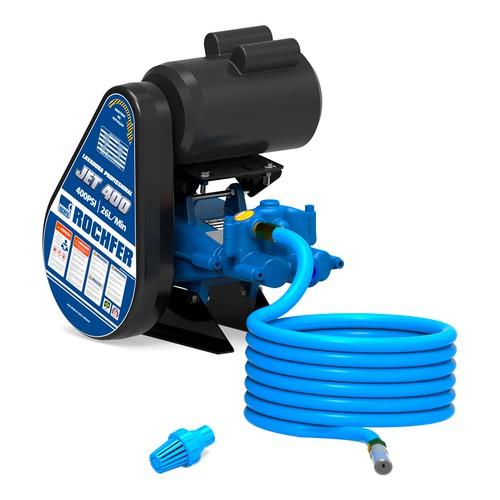 Lavadora Profissional JET 400 com Motor - Monofásico IP 44 - 2 CV