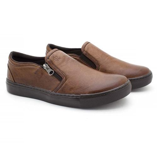 Slip Stratus Masculino em Couro - Brown