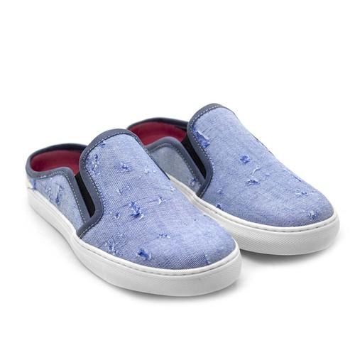 Mule Masculino Stratus Eco em Lona - Azul Jeans Destroid