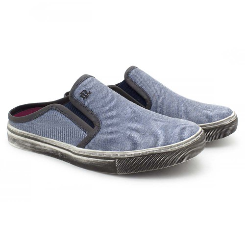 Mule Masculino Stratus Eco em Lona Azul Jeans