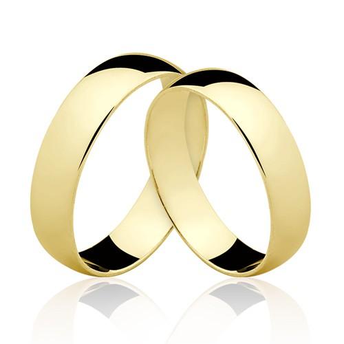 Alianças de Ouro 18k/750 AL13