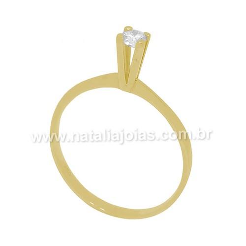 Anel de Ouro 18k/750 Solitario AN68