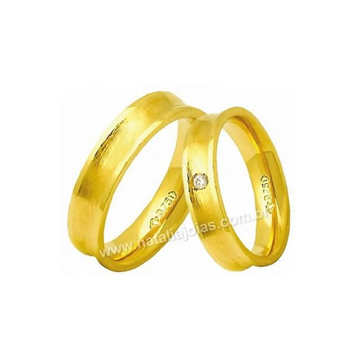Alianças de Ouro 18k/750 AE156