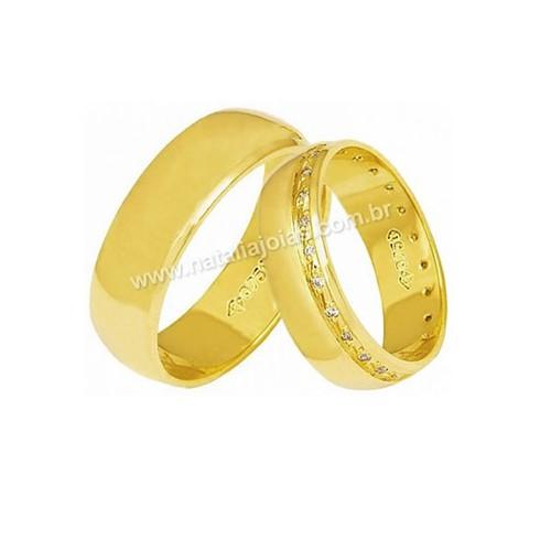 Alianças de Ouro 18k/750 AE174