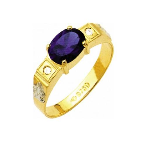 Anel de Formatura em Ouro 18k/750 com Diamante ANF15