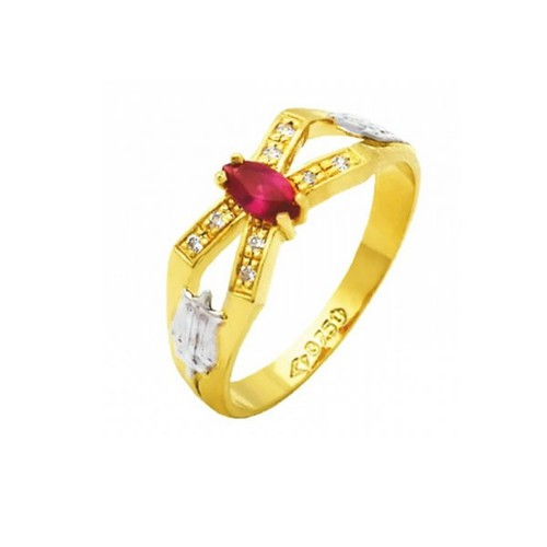 Anel de Formatura em Ouro 18k/750 com Diamante ANF71