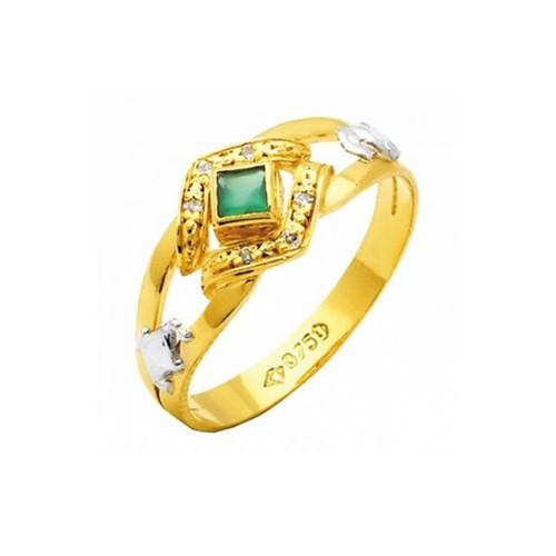 Anel de Formatura em Ouro 18k/750 com Diamante ANF72