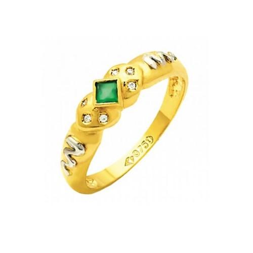 Anel de Formatura em Ouro 18k/750 com Diamante ANF59