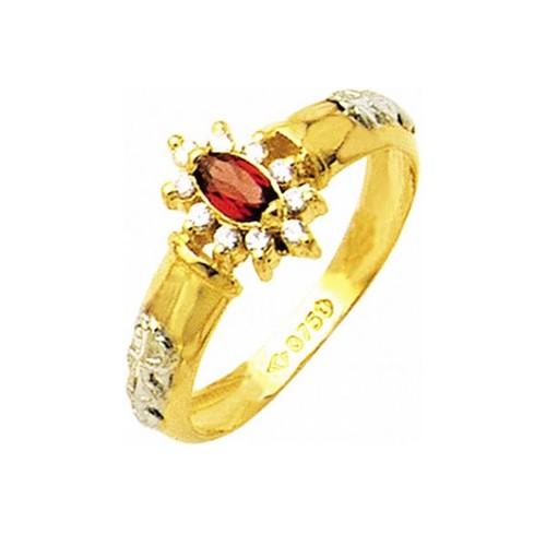 Anel de Formatura em Ouro 18k/750 com Diamante ANF23