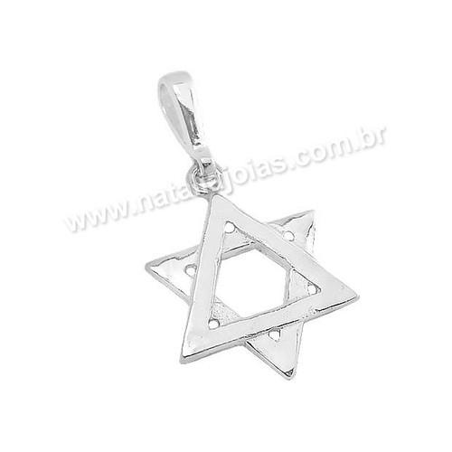Pingente de Prata 925 Estrela de Davi PG12