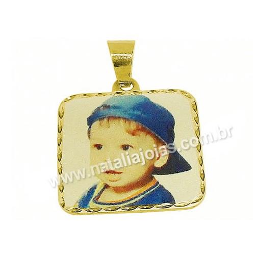 Fotogravaçao Colorida em Ouro 18k/750 B2